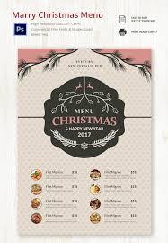 31 christmas menu template free sample example format download