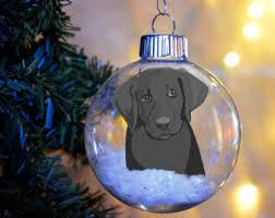 black lab ornament etsy