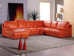 Orange Leather Sectional Sofa Luxury Burnt Orange Leather Sofa 26 About Remodel Sofas And Inside