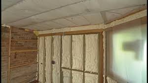 Spray Insulation For Basement Walls Bibs Vs Spray Foam Insulation Youtube