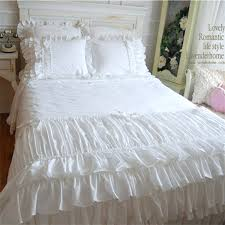 Korean Comforter White Ruffle Bedding Ruffle Sheet Set Bedroom Wonderful White