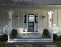 farmhouse exterior lighting porch farmhouse with metal roof white