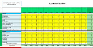sports business budget template
