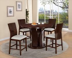daria round pub height dining table and stool set belfort