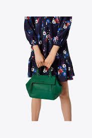 lyst burch half moon small satchel in green