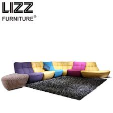 Leather And Fabric Living Room Sets Aliexpress Buy Corner Sofas Loveseat Chair Leather Mixed