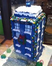 just in time for the holidays my gingerbread tardis doctorwho