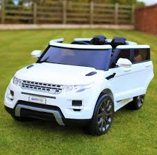 jeep car white maxi range rover hse sport style 12v electric battery ride on car