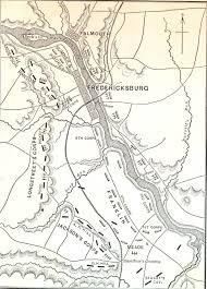 Fredericksburg Va Map Battle Of Fredericksburg