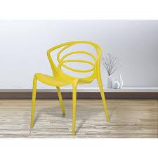 siege jardin chaise de jardin design siège en plastique jaune bend achat