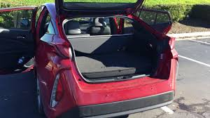 toyota prius luggage capacity toyota prius prime 2017 back row seats and trunk space