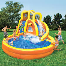 banzai backyard water slide typhoon twist outdoor furniture