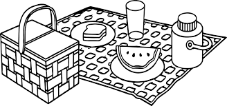 summer picnic coloring page wecoloringpage