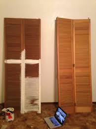 Shutter Doors For Closet Diy Headboard From Shutter Closet Doors My Chic Obsession