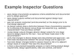 design criteria questions fda expectations for traceability in device diagnostic design
