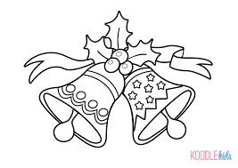 coloring pages christmas bells coloring pages kids
