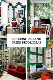 Emerald Green Home Decor by 27 Daring Red And Green Interior Décor Ideas Digsdigs