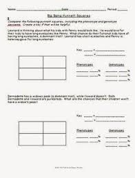 monsters inc punnett square practice  life science homework  edu  with big bang theory punnett square worksheet from pinterestcom