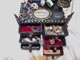 put the glue down steampunk witch mini altered dresser for