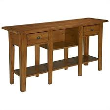 Sofa Table With Drawers Broyhill Attic Heirlooms Sofa Table In Oak With 2 Drawers 3397 09sv