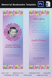 5 memorial bookmark templates word psd format download free