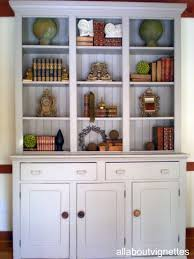all about vignettes styling a bookcase