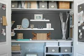 home office in a closet how to make the most of a little bit of