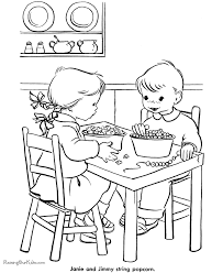 printable christmas coloring pages stringing popcorn
