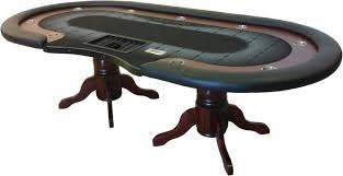 Poker Table Pedestal Racetrack Texas Holdem Poker Table With Dealer Area And Furniture