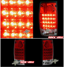1990 toyota pickup tail light lens for 1989 1995 toyota pickup red clear led brake tail lights 1991