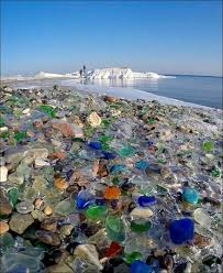 beach of glass glass beach where nature has turned pollution into beauty