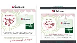 gift cards by email retail email marketing tips aima silverpop fabric silverp