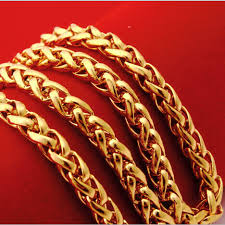 new arrival fashion 24k gp gold plated mens women newest 50 60cm 24kgp gold chains large men s 24k real gold