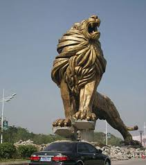 gold lion statues psd detail lion statue 1 official psds statues sculptures