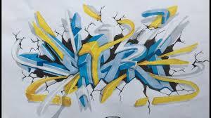 graffiti sketch 3d 2017