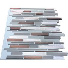 kitchen collection coupons creditrestore us amazon com art3d kitchen backsplash peel stick tile smart brick peel stick metal tiles for kitchen