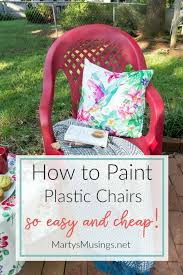How To Spray Paint Patio Furniture How To Spray Paint Plastic Chairs An Easy Makeover Marty U0027s Musings