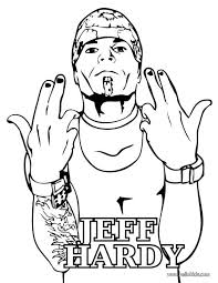 free printable jeff hardy coloring page famous people coloring