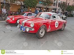 vintage alfa romeo race cars alfa romeo giulietta sprint veloce 1961 editorial image image