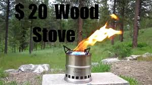 ohuhu wood burning stove review motorcycle camping youtube