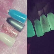 night light nail salon nightlight glow in the dark top coat precious minerals enailcouture