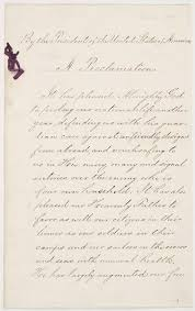 presidential proclamation no 118 by president abraham lincoln