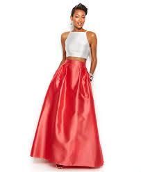 add a fancy dupatta to the halter crop top u0026 ball skirt at macy u0027s