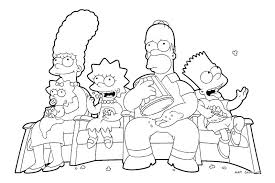 free simpsons coloring pages letscoloringpages com family