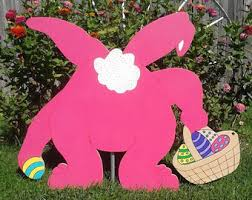 Outdoor Easter Bunny Decorations by Easter Eggs Outdoor Wood Yard Art Lawn Decoration