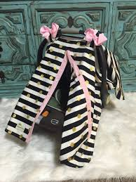 Pink Car Seat Canopy by Carseat Canopy Carseat Cover Black Gold And Light Pink Stunning