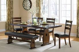 Dining Room Benches by Dining Table With Bench And 4 Chairs Home And Furniture