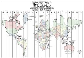 Map Projection Bad Map Projection Time Zones 1480x1015 Mapporn