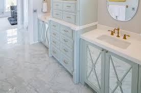Bathroom Cabinets Mirrored Doors - turquoise blue bathroom vanity with mirrored doors transitional