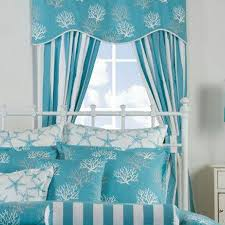 beach themed curtains and valances coastal seashell valances best